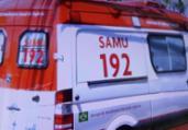 Homem é baleado em frente a hospital em Brotas   Reprodução   TV Record Bahia