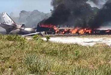 Vítimas de acidente com jatinho na Bahia são transportadas para Salvador | Reprodução | Camamu Notícias