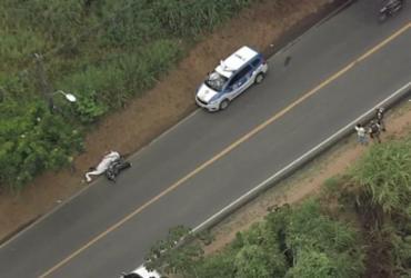 Motociclista morre após batida na Estrada Velha de Periperi | Reprodução | TV Record