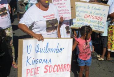 Movimento Aquilombar lança campanha em defesa do Quilombo Kingoma | Divulgação