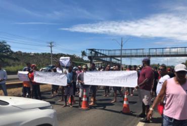 Moradores de Areias bloqueiam a BA-099 em protesto contra intervenções da CLN | Divulgação | BPRv