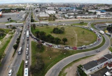 Obras no Viaduto do Trabalhador geram alterações no trânsito | Divulgação | Concessionária Bahia Norte