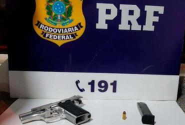 Caminhoneiro é preso com veículo adulterado e porte ilegal de arma em Jequié | Divulgação | PRF
