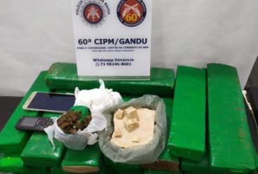 Quase 30 quilos de drogas são apreendidas no município de Gandú | Divulgação | PM