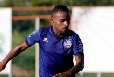 Élber retorna a treino com bola e deve reforçar o Tricolor diante do Goiás | Felipe Oliveira | EC Bahia