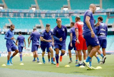Na Fonte Nova, Bahia faz último treino antes de enfrentar o Palmeiras | Felipe Oliveira | EC Bahia