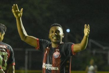 Eron comemora primeiro gol como profissional e projeta duelo contra o Paraná | Letícia Martins | EC Vitória