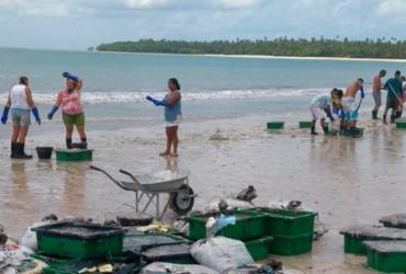 Manchas de óleo voltam a aparecer na praia de Garapua, no município de Cairu | Reprodução | Cidadão Repórter