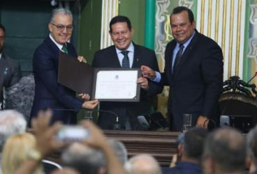 Confira imagens da visita do vice-presidente Hamilton Mourão a Salvador |