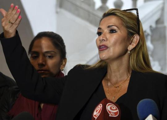 Senadora Jeanine Áñez se declara presidente da Bolívia | Aizar Raldes | AFP