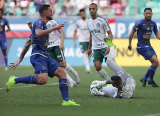 Bahia empata com o Palmeiras e mantém jejum na Fonte Nova | Uendel Galter