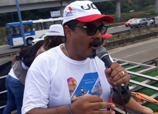 Presidente da UGT-BA é lançado pré-candidato a prefeito de Salvador   Divulgação