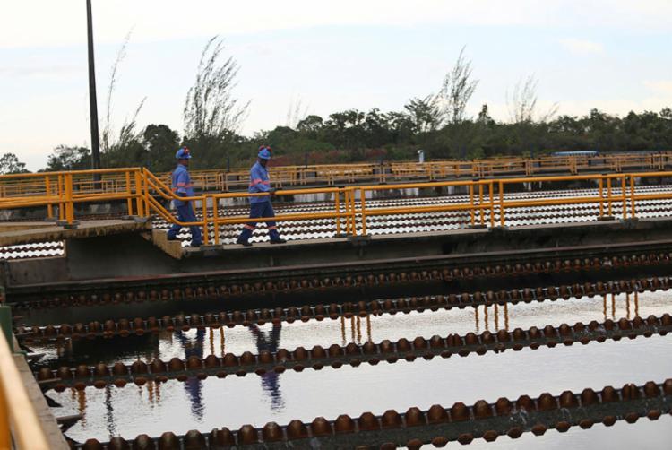 Manutenção preventiva acontece na barragem Joanes I | Foto: Joá Souza | Ag. A TARDE - Foto: Joá Souza | Ag. A TARDE