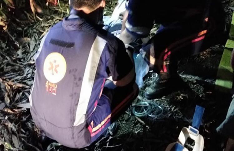Acidente aconteceu em distrito do município de Itagibá | Foto: Reprodução | Giro Ipiaú - Foto: Reprodução | Giro Ipiaú