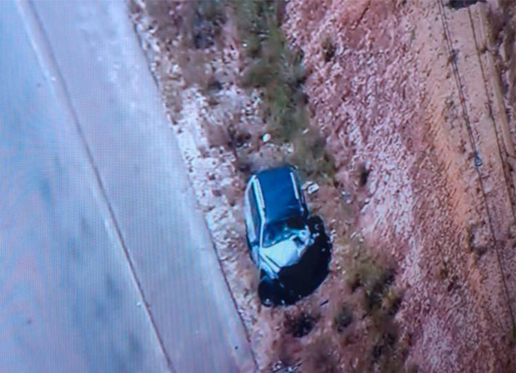 Vítima fatal estava no carro de passeio   Foto: Reprodução   Tv Record - Foto: Reprodução   Tv Record
