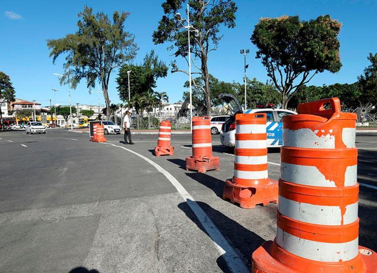 Alterações no trânsito começam a ser feitas a partir desta sexta-feira, 15   Foto: Uendel Galter   Ag. A TARDE - Foto: Uendel Galter   Ag. A TARDE