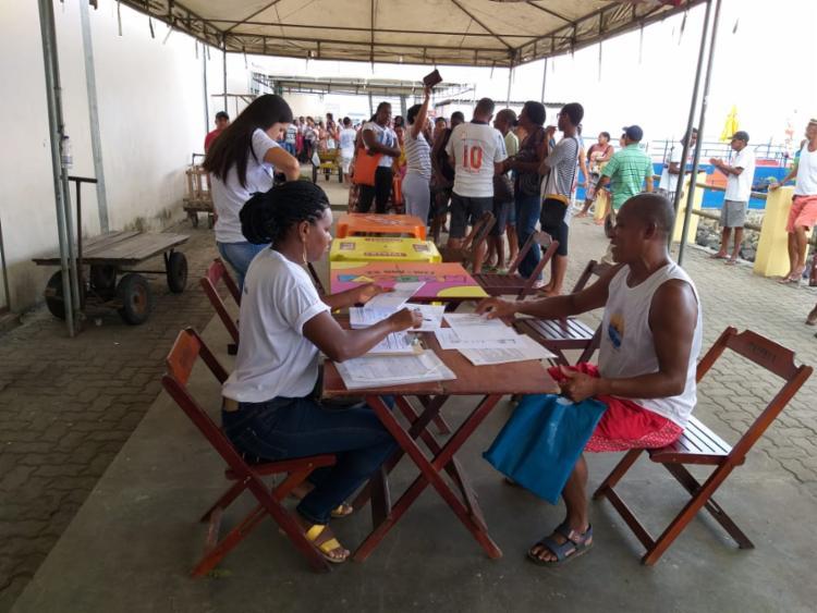 Em breve será divulgado a programação de cadastramento para outras regiões da cidade | Foto: Jan Penalva | Bahia Pesca - Foto: Jan Penalva | Bahia Pesca