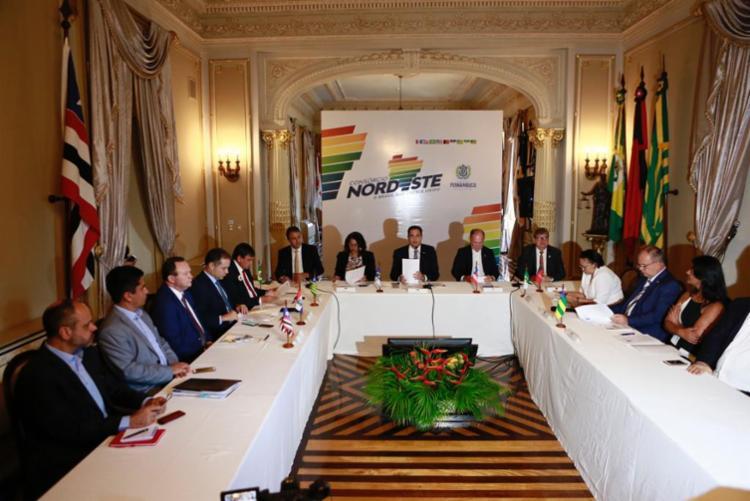 Encontro reuniu os governadores na capital pernambucana | Foto: Heudes Regis | Governo PE - Foto: Heudes Regis | Governo PE