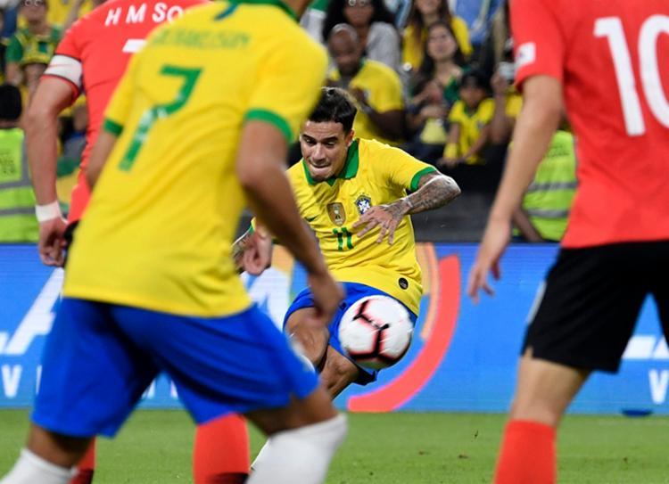 Com gol de falta, Brasil bateu Coreia do Sul por 3 a 0 | Foto: Khaled Desouki | AFP - Foto: Khaled Desouki | AFP