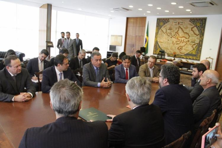 Governadores do Nordeste se reuniram com o ministro de Relações Exteriores Ernesto Araújo | Divulgação | Secom - Foto: Divulgação | Secom