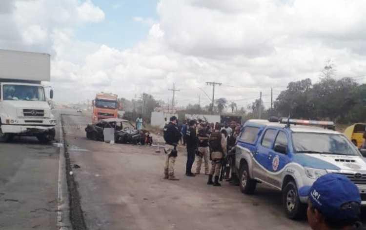 Acidente aconteceu no município de Santo Estêvão | Foto: Reprodução | Acorda Cidade - Foto: Reprodução | Acorda Cidade