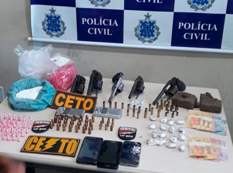 Dinheiro, armas e drogas foram apreendidos na operação | Foto: Divulgação | SSP - Foto: Divulgação | SSP