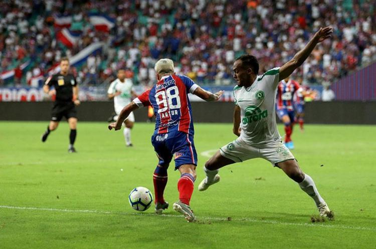 Neste domingo o Bahia volta em campo diante do Flamengo | Foto: Uendel Galter | Ag. A TARDE - Foto: Uendel Galter | Ag. A TARDE