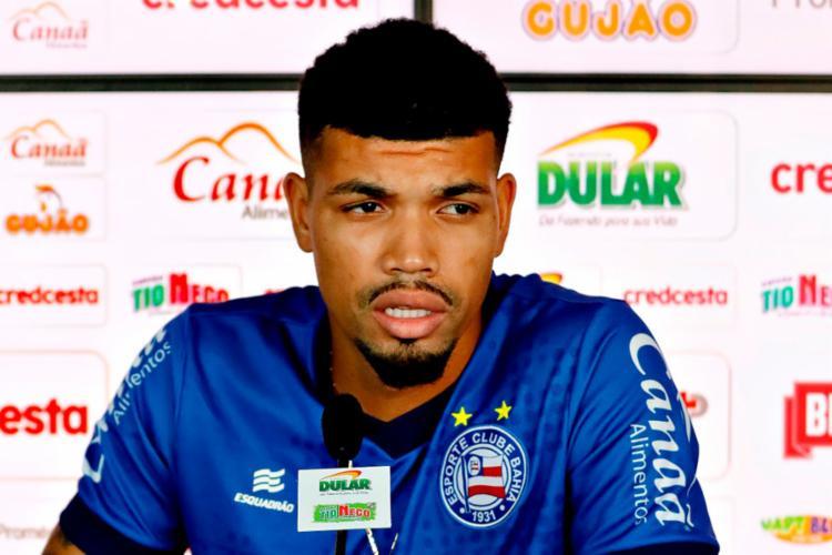 Juninho chegou ao Bahia em junho, por empréstimo do Palmeiras | Felipe Oliveira | EC Bahia - Foto: Felipe Oliveira | EC Bahia