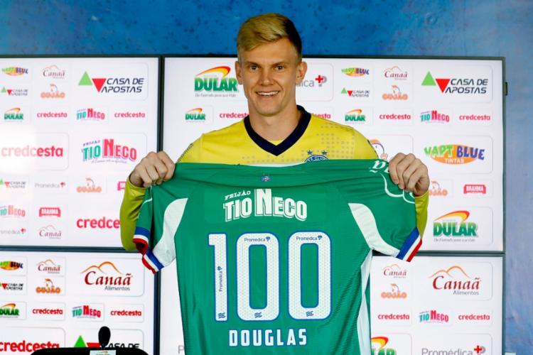 Douglas poderá comemorar a expressiva marca com triunfo diante do Verdão   Foto: Felipe Oliveira   EC Bahia - Foto: Felipe Oliveira   EC Bahia