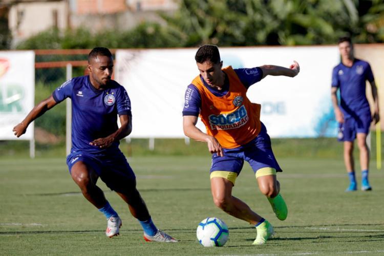 Élber havia sido poupado dos treinos com bola na quinta-feira | Foto: Felipe Oliveira | EC Bahia - Foto: Felipe Oliveira | EC Bahia