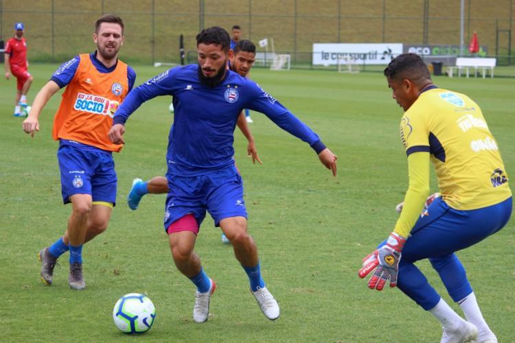 No gramado, os reservas fizeram um trabalho de posse de bola Foto: Felipe Oliveira | EC Bahia - Foto: Felipe Oliveira | EC Bahia