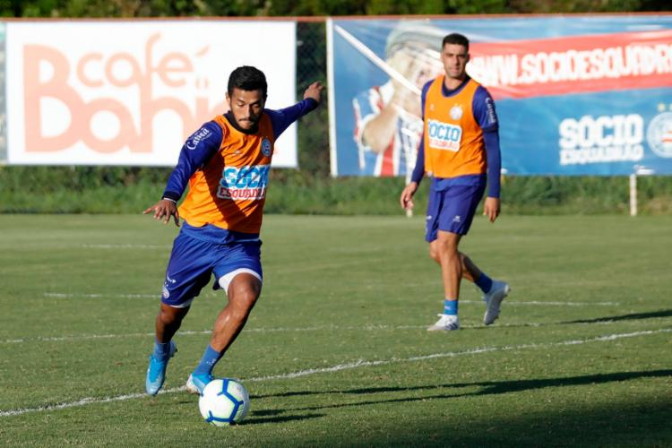 Com a camisa do Bahia, o atacante já disputou 26 jogos na temporada, marcando dois gols | Foto: Felipe Oliveira | EC Bahia - Foto: Felipe Oliveira | EC Bahia
