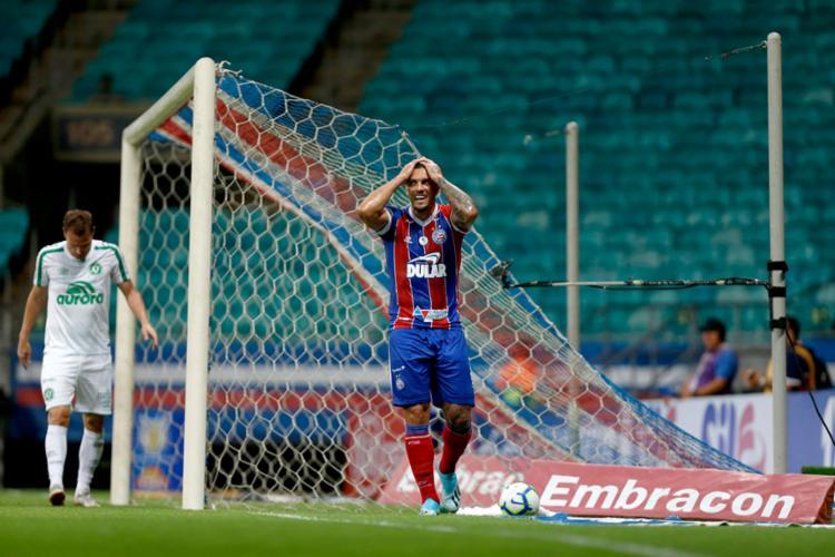 Atacante Fernandão é um dos jogadores criticados | Felipe Oliveira | EC Bahia - Foto: Felipe Oliveira | EC Bahia