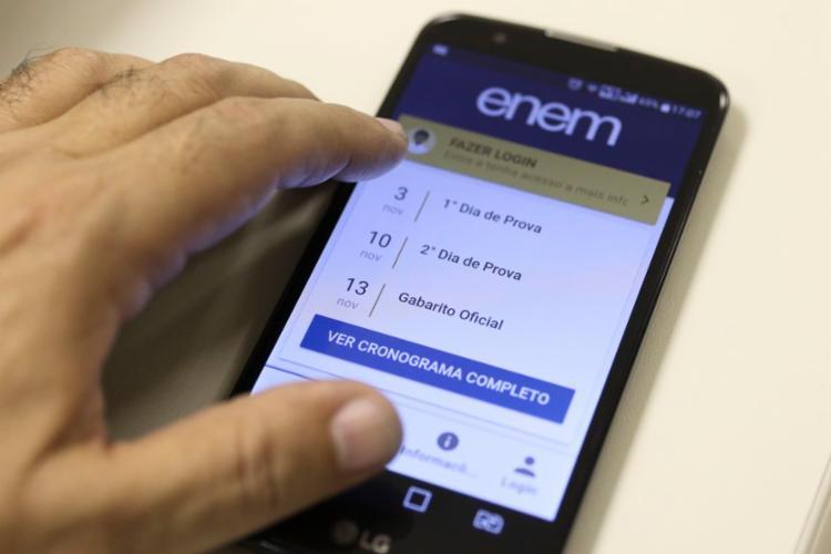 participantes poderão acessar os gabaritos pelo portal do Inep ou pelo aplicativo do Enem | Foto: Marcello Casal Jr | Agência Brasil - Foto: Marcello Casal Jr | Agência Brasil