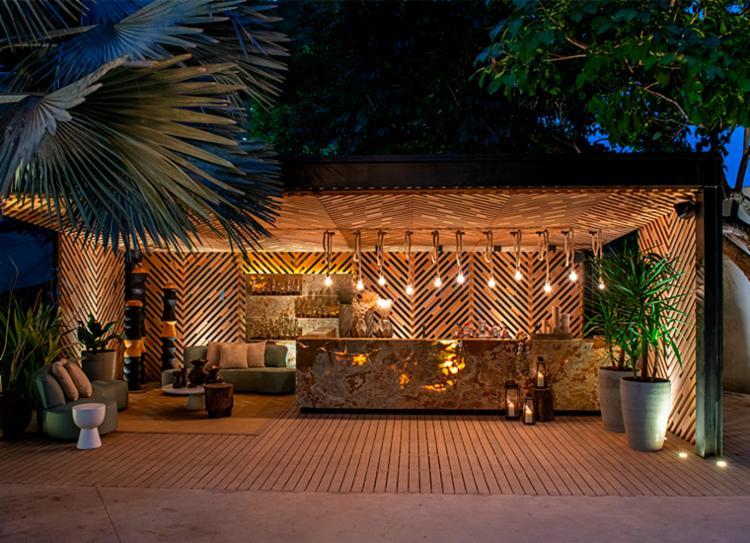 Bar Tônico, assinado pelos arquitetos Caio Bandeira e Tiago Martins | Foto: Divulgação - Foto: Divulgação