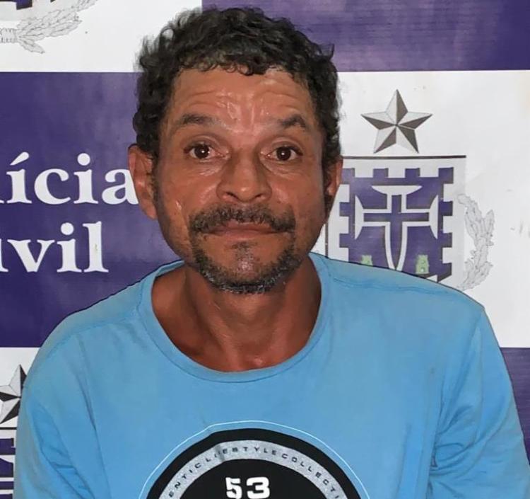 O suspeito foi encaminhado para a Delegacia Territorial (DT) do município | Foto: Divulgação | Polícia Civil - Foto: Divulgação | Polícia Civil