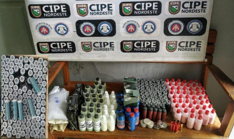 Munições eram fabricadas no imóvel | Foto: Divulgação | SSP - Foto: Divulgação | SSP