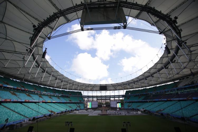 Será a primeira vez, desde que a mudança do Parque de Exposições para a Arena, que o evento terá dois grandes palcos   Foto: Raphael Muller   Ag. A TARDE - Foto: Raphael Muller   Ag. A TARDE