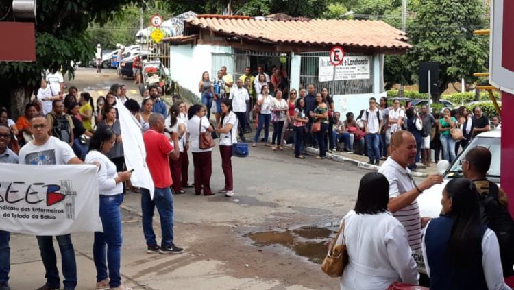 Funcionários reivindicam direitos trabalhistas | Foto: Divulgação | Sindisaude - Foto: Divulgação
