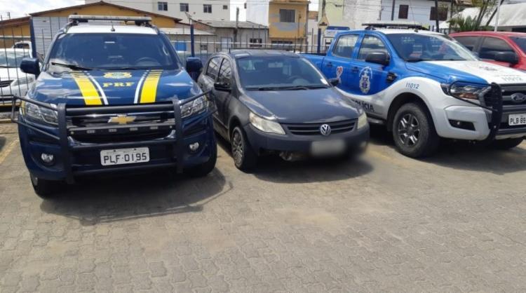 Carro foi roubado em Itabuna no ano de 2013 | Foto: Divulgação | PRF - Foto: Divulgação | PRF