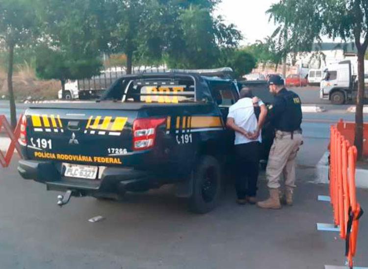 O suspeito possuí uma ficha criminal extensa   Divulgação   PRF - Foto: Divulgação   PRF