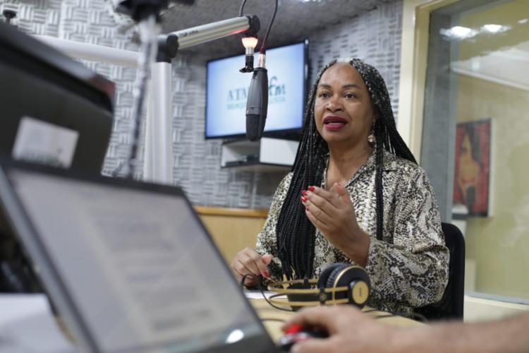 Pré-candidata à prefeita foi entrevista no programa Isso é Bahia, na A TARDE FM | Foto: Raul Spinassé | Ag. A TARDE - Foto: Raul Spinassé | Ag. A TARDE