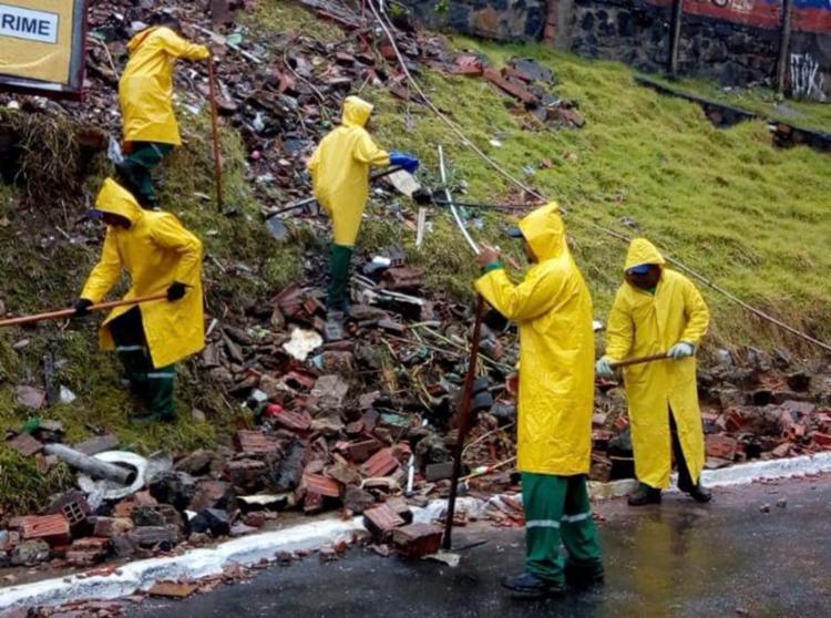 Cerca de 192 toneladas de material já foram retiradas   Foto: Divulgação - Foto: Divulgação