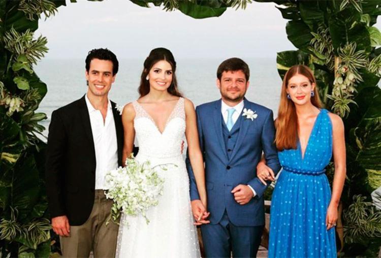 Marina e Alexandre foram padrinhos de casamento de uma das irmãs | Foto: Reprodução | Instagram - Foto: Reprodução | Instagram