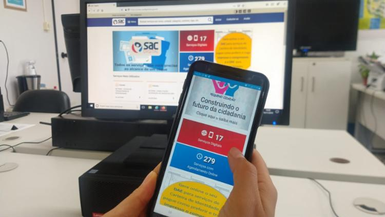 O processo pode ser feito por meio de dispositivos móveis, como tablets e celulares. - Foto: Divulgação
