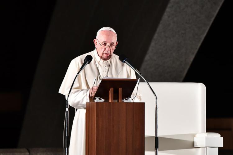 O papa também se revoltou neste domingo contra toda a cadeia de armas | Foto: Vincenzo Pinto | AFP - Foto: Vincenzo Pinto | AFP