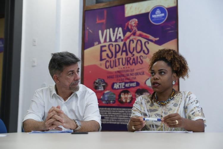 Fernando Guerreiro e Viviane Vergasta, da Fundação Gregório de Mattos, acompanharam a elaboração do documento - Foto: Uendel Galter / Ag. A TARDE