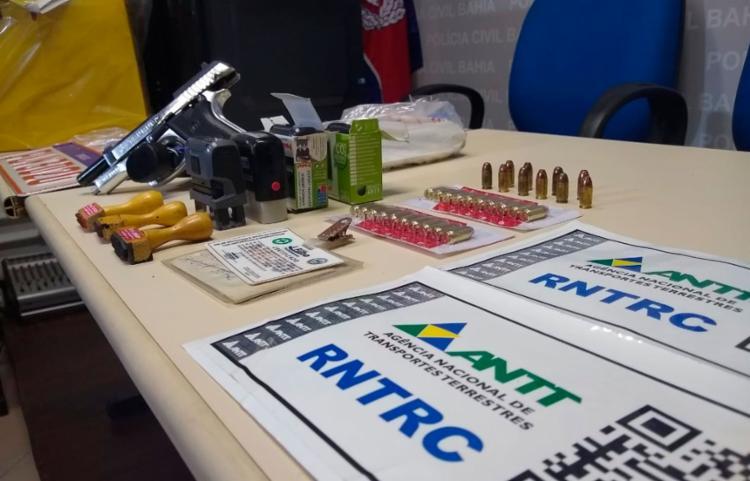Operação foi apresentada em coletiva na sede da Polícia Civil, em Nazaré FOTO: Nicolas Melo   Ag. A TARDE - Foto: Nicolas Melo   Ag. A TARDE