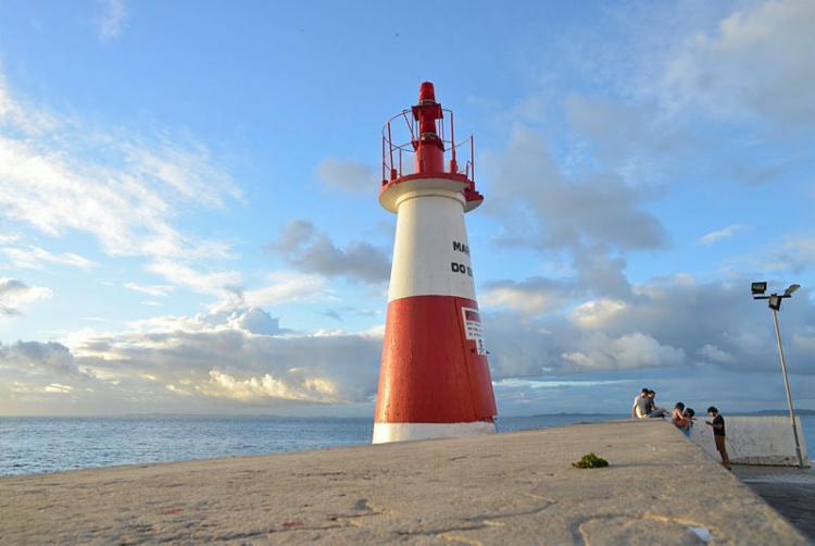 O encerramento na Ponta do Humaitá acontece depois do percurso | Foto: Shirley Stolze | Ag. A TARDE - Foto: Shirley Stolze | Ag. A TARDE