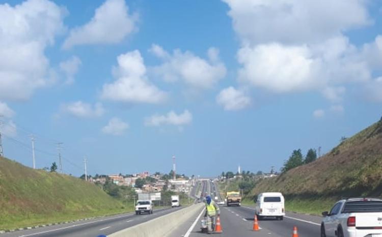 Vários pontos da BA-093 estão com obras | Foto: Divulgação | Concessionária Bahia Norte - Foto: Divulgação | Concessionária Bahia Norte